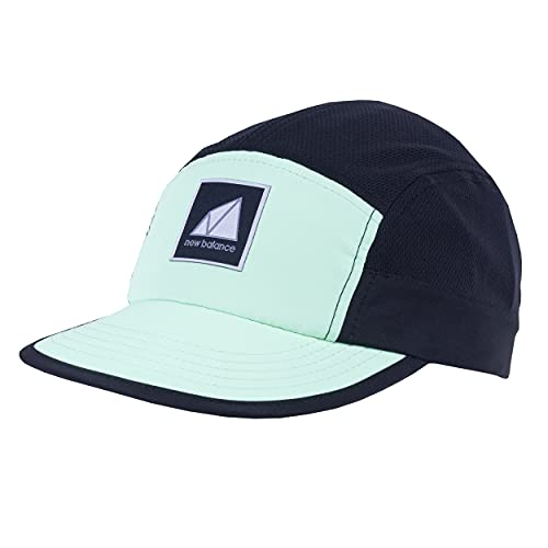 New Balance Men's and Women's 5-Panel Camper Color Block Archive Hat, Agave
