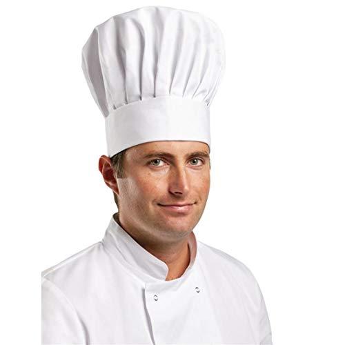 Les Blancs Chefs Apparel A200-l Colonne Chapeau, Blanc