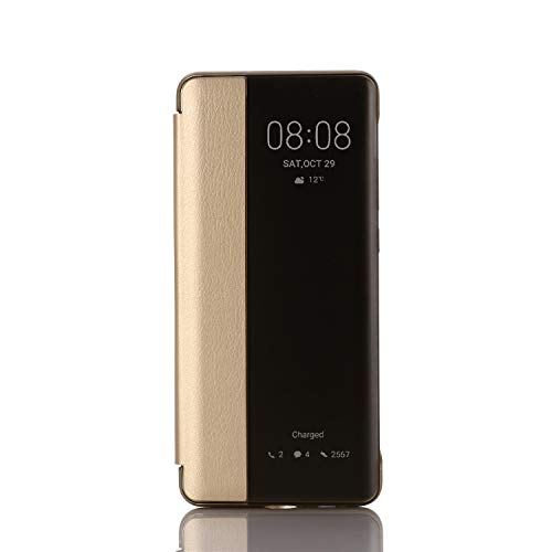 Caler Cover Compatibile Con Huawei Mate 10 Pro Specchio Custodia Intelligente Smart View Cover Portafoglio Flip Silicone Trasparente Case in Pelle Bumper Folio Protector Copertura Lusso Mirror Shell