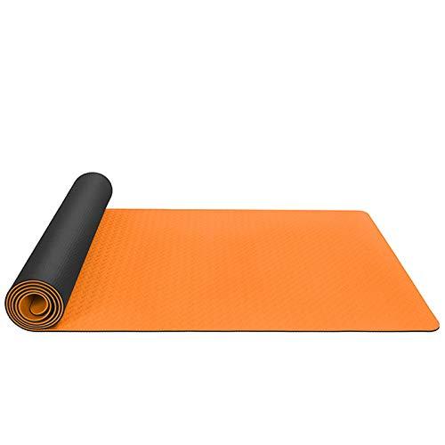 QEGY TPE Esterilla de Yoga, Esterilla de Yoga Antideslizante ecológica Esterilla de Entrenamiento para Yoga, con Correa de Transporte, Pilates y Ejercicios de Suelo, 183 * 61 * 0,6 cm,I