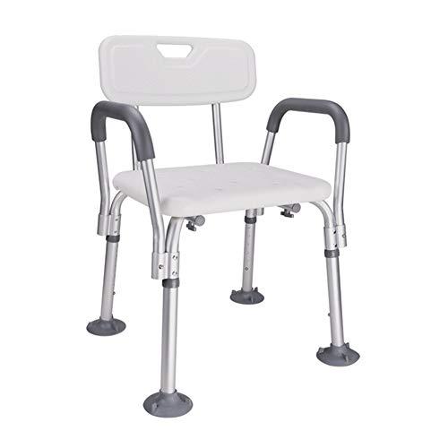 Suktion-Cup-Tipps Bath Stool Rutschfeste Multifunktion Deluxe Height Adjustable Disability Aid Safety Shower Chair Und Arme Und Back Ergonomic Duschsitz Mit Kopfhalter