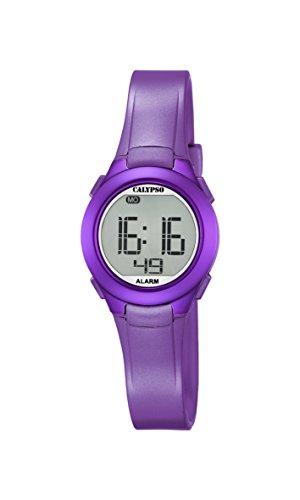 Calypso Reloj Digital Unisex con Pantalla Digital LCD y Correa de plástico púrpura K5677/2