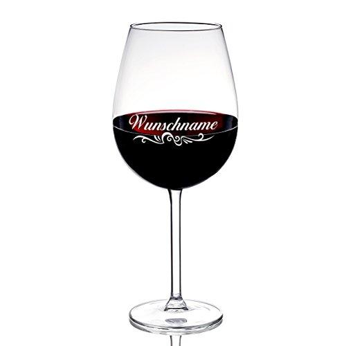 polar-effekt Weinglas mit Gravur des Namens – Wein-Glas 590 ml Geschenkidee