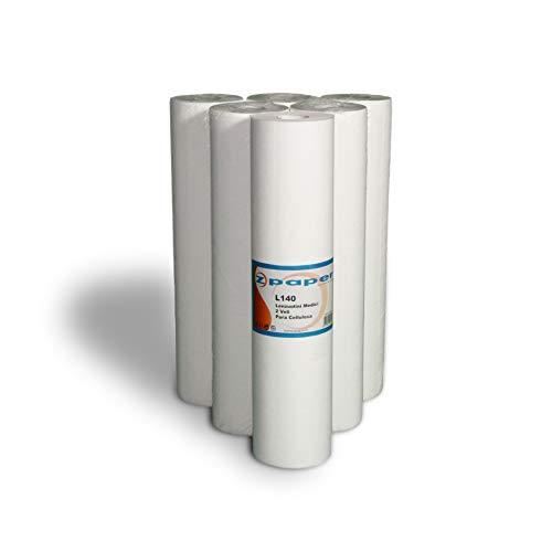 ZPAPER - Lenzuolino Medico - 6 rotoli Carta Pura Cellulosa, altezza 60cm, 2 veli, Rotoli per studi medici, estetisti, fisioterapisti, SPA (1)