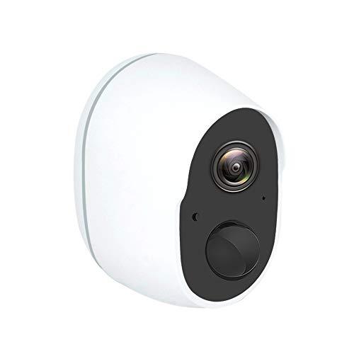 KU Syang CáMara Wifi 1080P CáMara IP de Seguridad InaláMbrica con BateríA Recargable CáMara de Vigilancia Exterior Impermeable con DeteccióN de Movimiento PIR