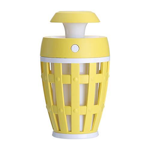 UN design unique Humidificateur,Dinglong Mini humidificateur lampe de bureau LED humidificateur pliant apprentissage lecture lampe de table (Jaune)