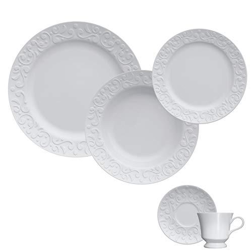 Jogo Jantar/Chá 20 Peças - Tassel Germer Branco