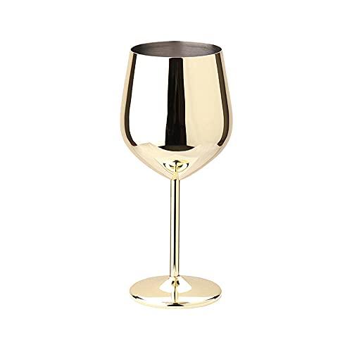 500 ml 304 Copos de vino tinto de acero inoxidable Copas de vino Barra de vino Accesorios Accesorios Copas de vino Copa de bebida de cócteles de champán (Color : 03)