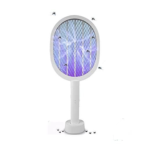 Pinzheng Lámpara Killer Mosquito USB con lámpara UV 3000V Anti Mosquito Bug Electric Bug Zapper USB Recargable de Verano Fly Swatter Trap Blies