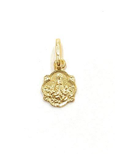 2 Medalla Virgen de los Desamparados Octogonal Plata de Ley Cubierto de Oro de 18kt