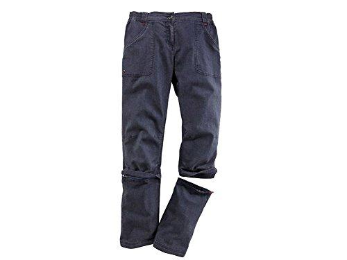 CRIVIT® Damen Trekkinghose, mit Zip-off-Funktion auf Capri-Länge, Gr. 38 ( jeans )