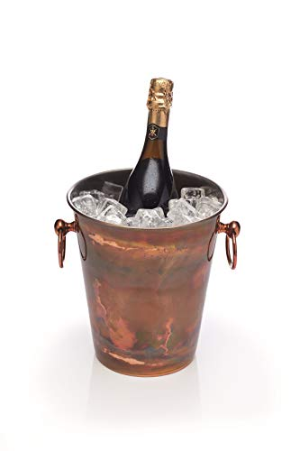 KitchenCraft BCCHAMIRIDCOP - Cubo de champán con acabado de cobre iridiscente