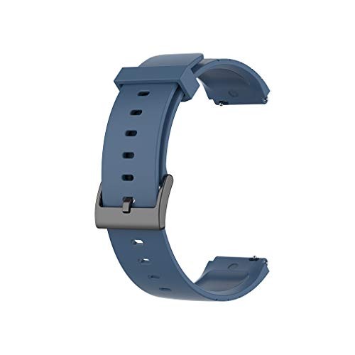 Sport Strap Bracelet Watch Band Wristband TPU 5.7-8.7inch Replacement for Mi Watch, Grey Blue