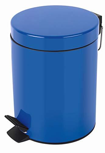 Spirella Kosmetikeimer Sydney Blau Mülleimer Treteimer Abfalleimer - 5 Liter – mit herausnehmbaren Inneneimer