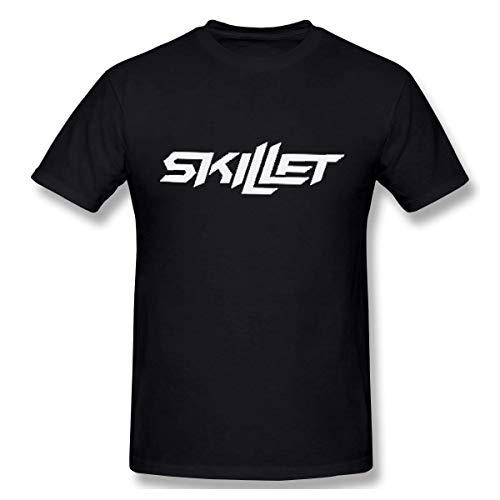 Oaueaiw Skillet T-Shirt Unisesx Men Women Youth Cotton Tee,Black,Medium