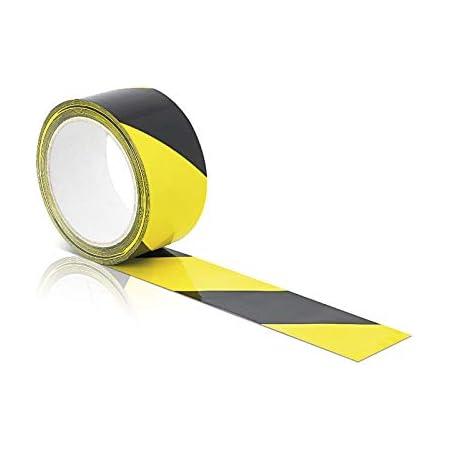 Halloween Warnband Party Dekoration 100Meter Warnband Gelb Schwarz Absperrband Nicht klebend Reissfest Sicherheitsmarkierung mit Wort Caution