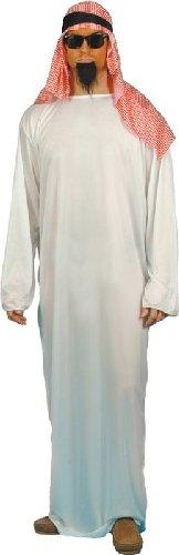 """Smiffys-24805M Disfraz de jeque, con túnica Larga y Tocado, Color Blanco, M-Tamaño 38\""""-40\"""" (Smiffy\'S 24805M)"""