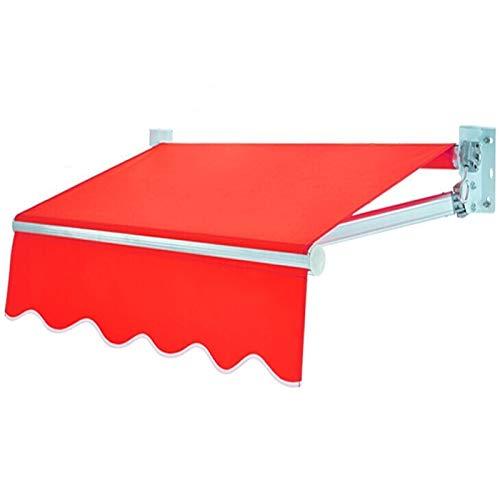 LWH marquesinas Puerta,Toldo de Sol,150X150CM,Escalable manualmente Sombreado para Evitar Fugas de Agua y Resistencia al Viento 6-7,Anti-UV 99.9%