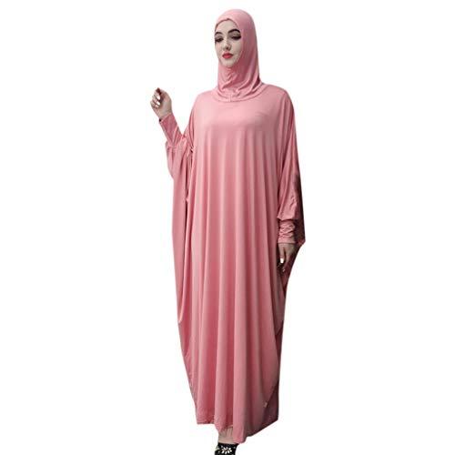 ZEELIY Keidung Muslimische Maxi Kleider für Damen - Spitze Rundhals Abaya Dubai Kleid Chiffon Kaftan Islamische Kleidung Arab Kleid Dubai Kaftan Ramadan Kleider Gebet Kleid
