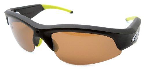 MAPTAQ Video-sonnenbrille Q-camz VJU Sportive mit In HD Kamera Gebaut, schwarz/grün, one size