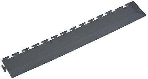 Miltex 18122, Bordo con angolo mattonelle ad incastro per pavimento antitrauma Yoga Tile, 57 x 7 cm, Grigio
