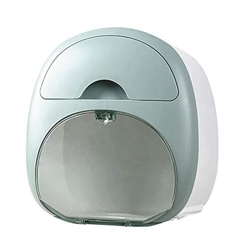 YUXI8541NO Portarollos Papel Higienico Portarrollos Baño Topes de Papel de higor Caja de Tejido de Doble cajón Caja de Almacenamiento de Tejido Facial con cajón para baño Cocina Sin perforación