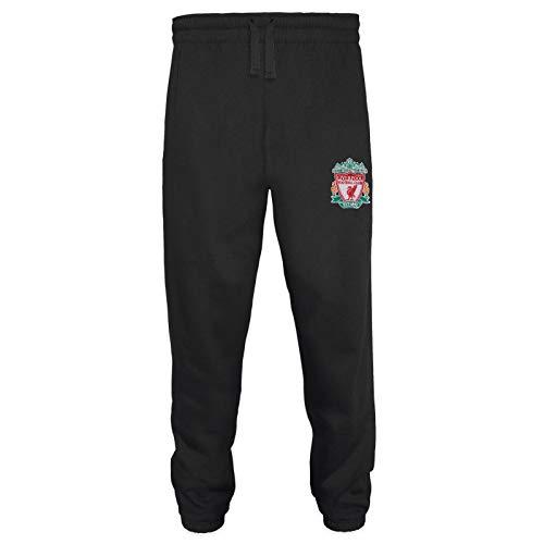 Liverpool FC - Herren Fleece-Jogginghose - Offizielles Merchandise - Geschenk für Fußballfans - Schwarz - M