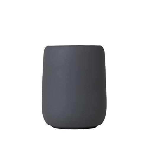Blomus Sono Zahnputzbecher, Keramik, Silikon, Magnet, H 11 cm, Ø 8,5 cm, V 0,3 l