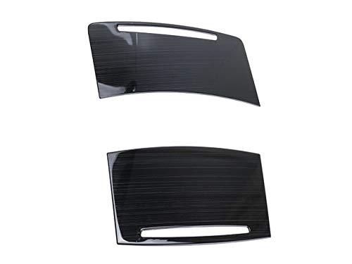 Car styling agua taza titular etiqueta etiqueta engomada cambio control panel marco metal para Audi A6 C5 C6 auto interior accesorios-negro
