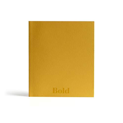 PdiPigna - Taccuino con pagine bianche, Italian types Bold, BI, color Ocra