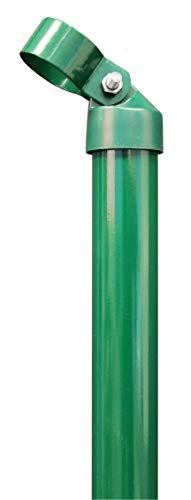 GAH-Alberts - Puntal para valla (galvanizado, recubrimiento de plástico, abrazaderas de 34 mm)