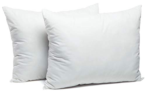 Foamily 2 Pack Bed Pillows for Sleeping - Cotton & Super Plush Down Alternative - Dust Mite Resistant & Hypoallergenic Insert (Queen/Standard)