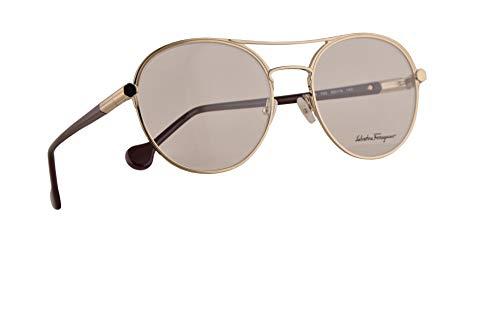 Salvatore Ferragamo SF2174 brillen 55-19-140 gouden wijn w/Demo Clear Lens 742 SF 2174