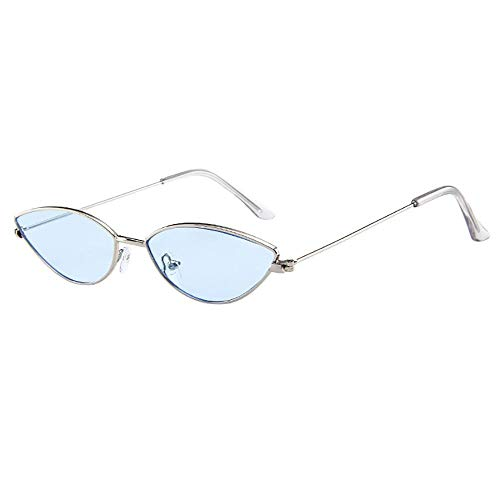 VJGOAL Mujeres ojos de gato clásicos ovalados Gafas de montura pequeña Gafas de sol retro