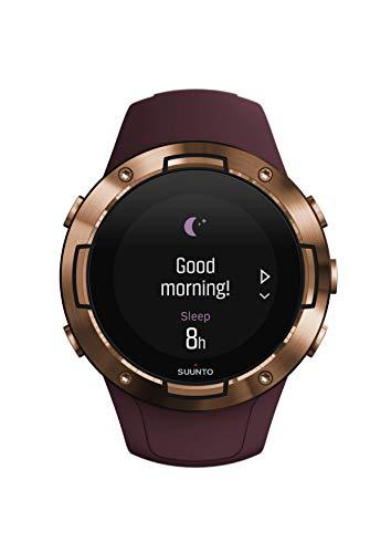 Suunto 5 Reloj multideporte GPS, unisex adulto, cristal mineral, acero inoxidable, silicona, burdeos, SS050301000