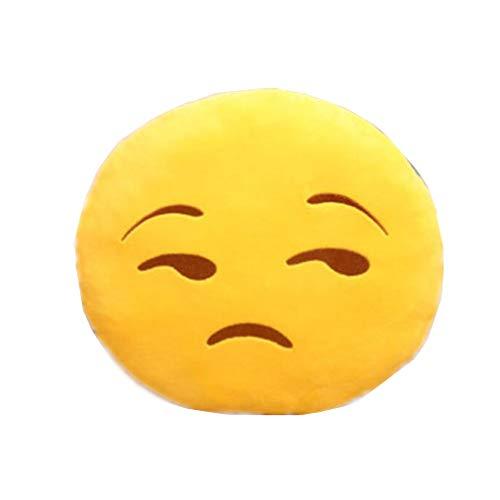 NO: 1 Emoji Smiley Emoticon rond coussin oreiller farcies peluche Soft Toy jetant baiser