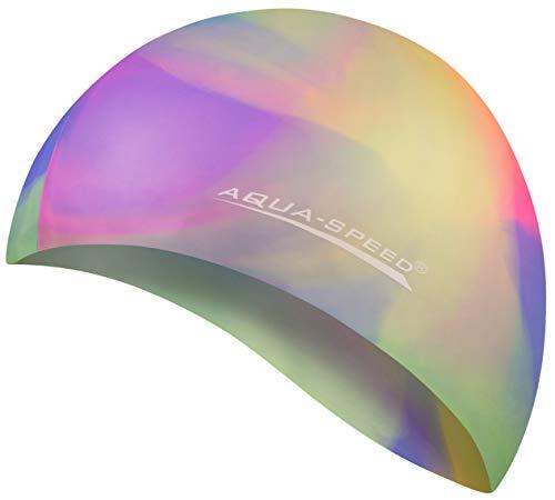 Aqua Speed BUNT Badekappe (Silikon Bademütze Badehaube), Bunt / 91