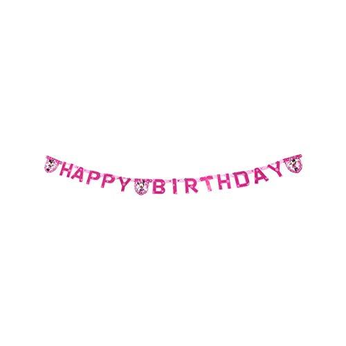 Jjwlkeji Vajilla De Fiesta Tema de ratón Niños Chica Fiesta de cumpleaños Favor de cumpleaños Decoración de la Fiesta de cumpleaños Vajilla de cumpleaños Set (Color : Banners)