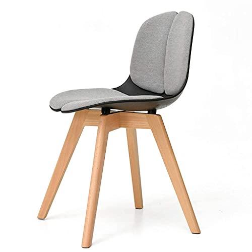 QLIGAH Schreibtischstuhl in Massivholzhaus, Esszimmerstuhl für Restaurant mit Kissen für Schlafzimmer/Wohnzimmer