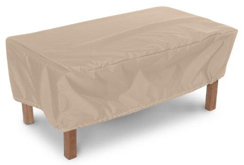 KOVERROOS Weathermax 44265 48 par 61 cm Ottoman/Petite Housse de Table, 48 par 24 par 38,1 cm, Toast