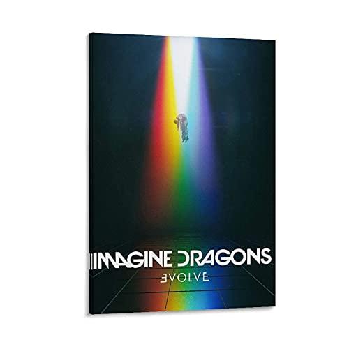 Imagine Dragons Evolve Music Album Poster Stampa Regalo Stampa Decorativa Murale, 40 x 60 cm