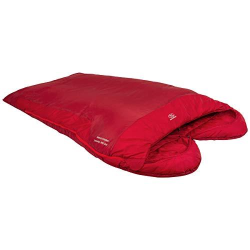 Highlander Serenity 300 Double Sleeping Bag Camping Mummy 3-4 Season Red Ripstop Hollowfibre