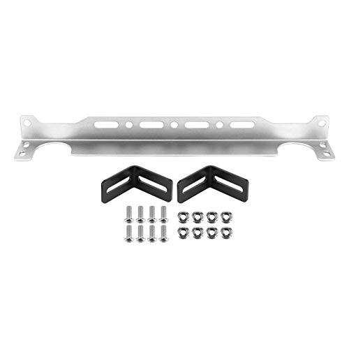 Kit de soporte de montaje de enfriador de aceite tipo británico 34 cm/13,4 pulgadas de aleación de aluminio ajuste universal para coche(Plata)