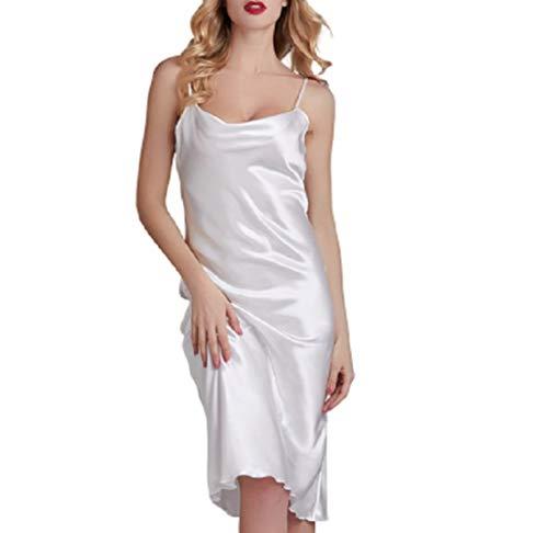 Bedgown Vrouwelijke Vrouw Zijde Lente Zomer Herfst Dunne Sectie Nachtkleding Pyjama Rok Pyjama ' s/Nachtjapon pak Kwaliteit van Beroemde Merken S Kleur: wit
