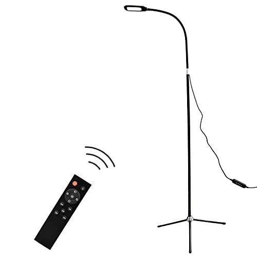 lampadaire ISeebaibi lampadaire sur pied salon,3 couleurs et 6 niveaux de luminosité,lampe salon pour chambre,bureau et lecture,10 watts,télécommande avec fonction de minuterie,adaptateur inclus