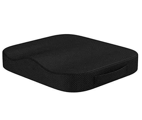 Portable Comfort Cushion Orthopedic Memory Foam Seat Cushion Coccyx & Lower Seat Cushion for Office Car Seats Back Pain Relief Cushion Great Office Chair Cushion