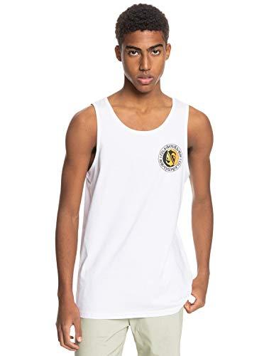 Quiksilver - Camiseta sin Mangas - Hombre - M - Blanco