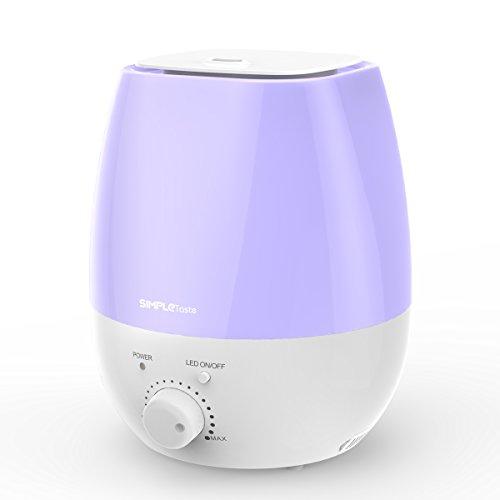 SimpleTaste Umidificatore Ultrasuoni Ionizzatore 3L Fresco Vaporizzatore, Silenzioso e con 7 Colori LED