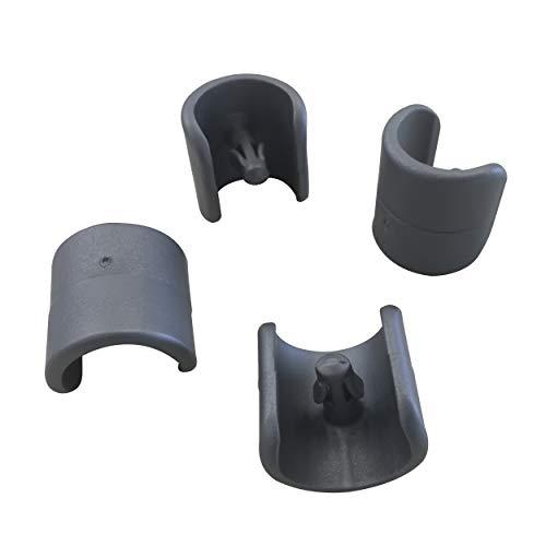Lafuma 4 Fußschoner für Relax-Liegestühle, 20 mm Durchmesser, Anthrazit, LFM2843-1229