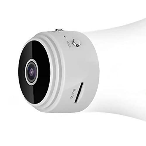 Mini-Kamera, Kabellos, HD 1080P ??berwachungskamera Mit Nachtsicht, Bewegungserkennung Die Verwendung Zu Hause (Color : White)